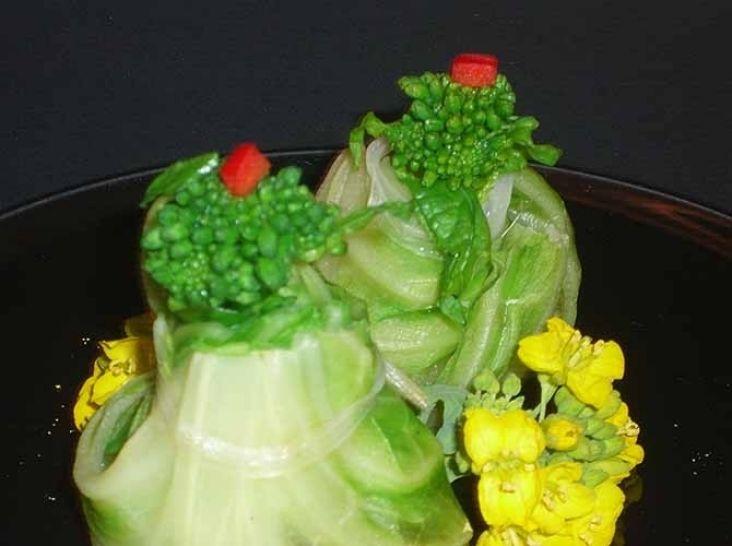 春の庭「ひとくちホイコーロー菜の花と共に」!