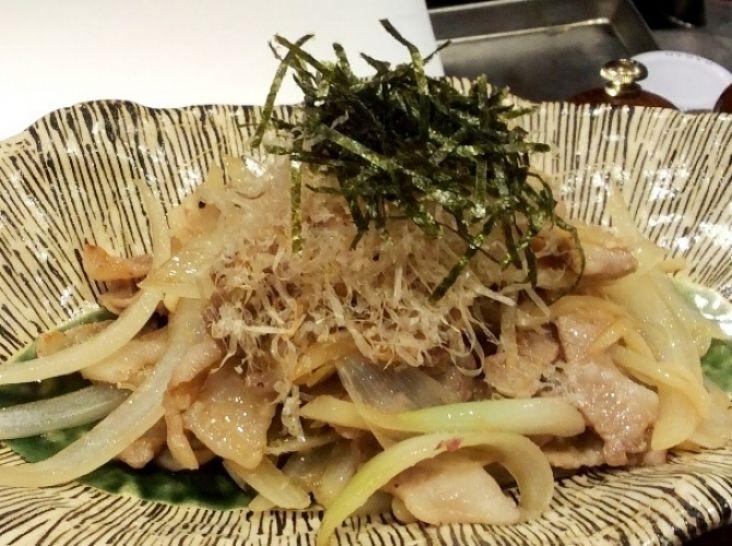 新生姜と豚肉の昆布ポン酢炒め