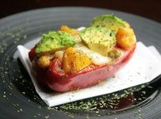 ピーマンの夏野菜詰めグラタン