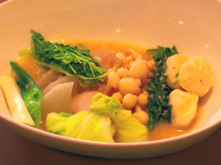 冬野菜のあったかミラノ風西京なべ & リゾット