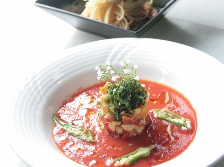 夏バテ対策! 美健トマトと夏野菜 梅風味のつけだれで