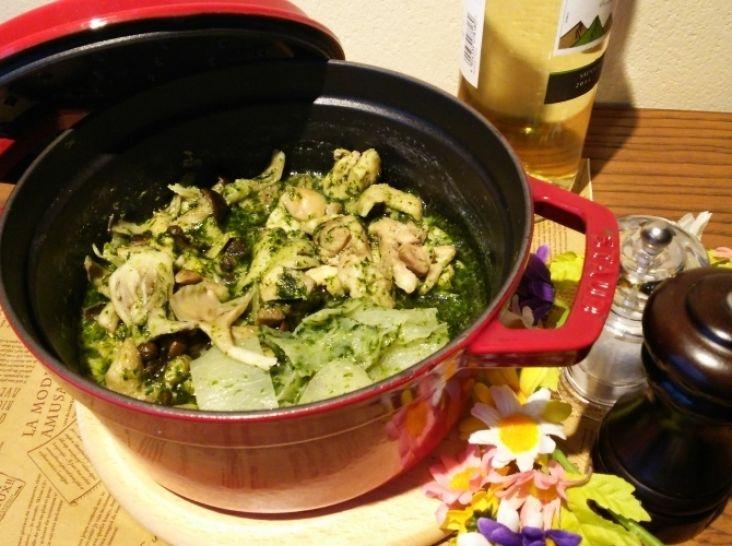 野菜たっぷり!ヘルシーチキンミルク鍋