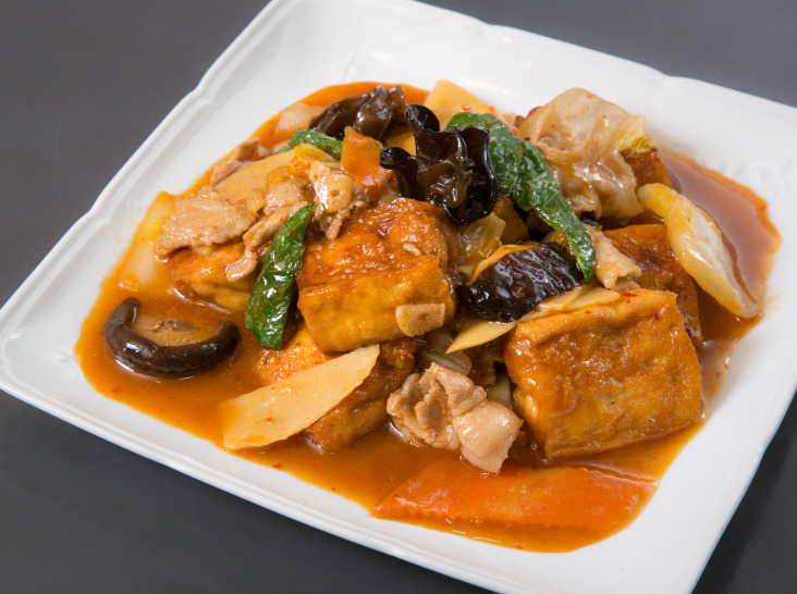 家常豆腐(揚げ豆腐肉野菜の辛煮)