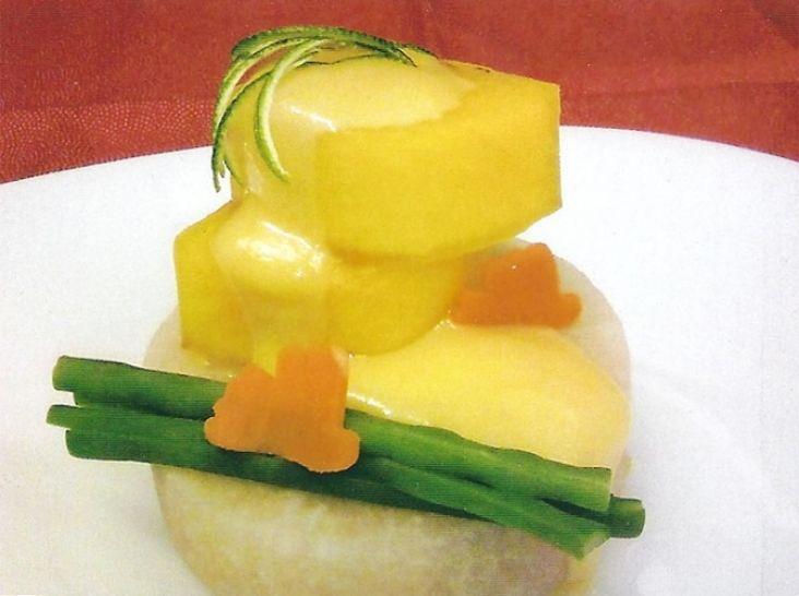 梨と柿の柚子味噌風呂吹き