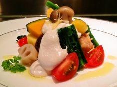 和で祝うホワイトクリスマス‼︎豆腐仕立Japanハーブソース