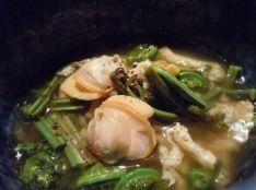 蛤と山菜の田舎煮