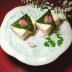 南高梅と長芋のムース~桜餅見立て~