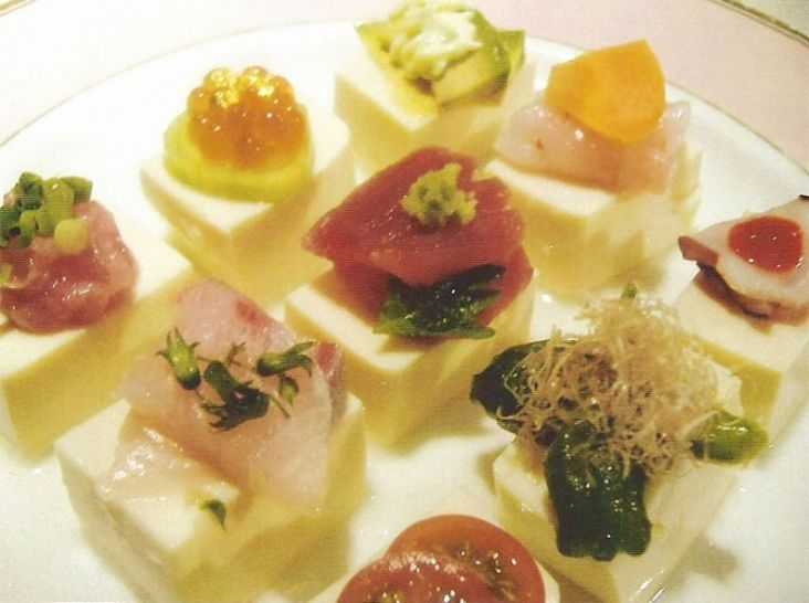 旬鮮魚と野菜のお豆腐カルパッチョ