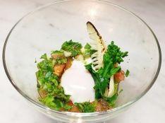 山菜サルサの温泉卵