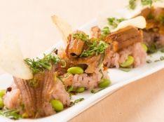 煮穴子と枝豆赤飯 山椒ダレ