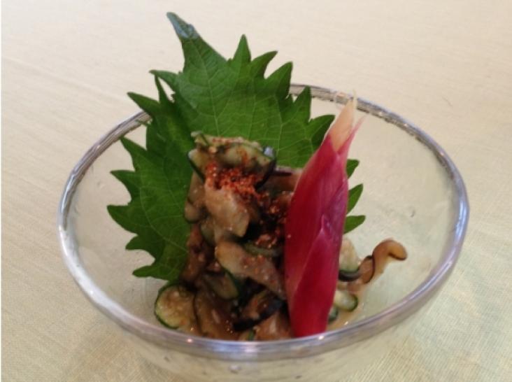 夏野菜の味噌もみっち