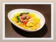 夏野菜の冷製スープパスタ