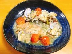 鮭とあさりのアクアパッツァ~ほんのり和風味~