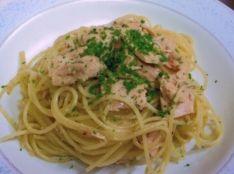 簡単ツナのシチリア風スパゲッティ
