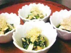 松茸と春菊の温浸し