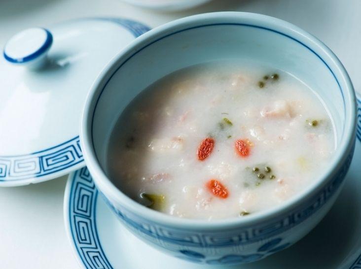 苦瓜と豚バラのお米スープ