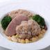 鶏の肉団子と豆の煮込み、カスーレ風