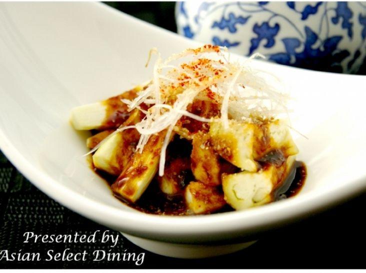 お手軽!シリコンスチーマーで簡単 蒸し茄子の甜麺醤ソース