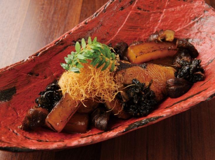 炙り鰤大根 ~干菜の旨味~