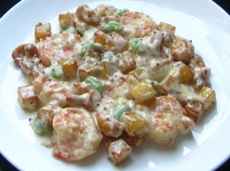ポテトも美味しい海老のマヨネーズ和え(海老ポテマヨ)