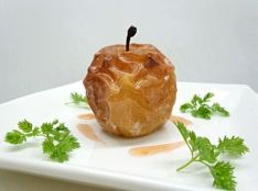 焼リンゴのシャーベット 100%天然シロップソース