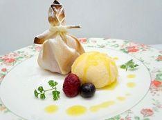 オメガ3!泡オイルのアイスとパリッパリ苺の盛り合わせ