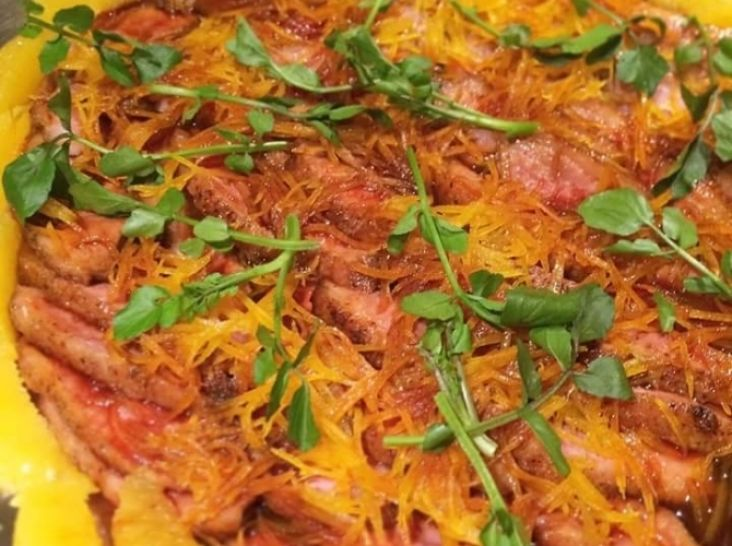 鴨のソテー オレンジ風味