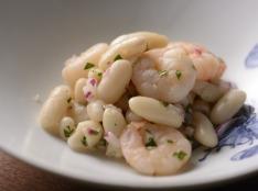 海老と白インゲン豆のサラダ