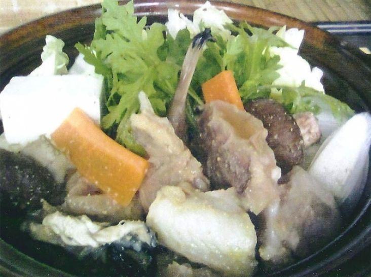 柚子胡椒とアンコウの塩鍋
