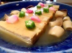 厚揚げとエリンギの旨煮・しそカツオにんにくのソース