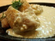 サーモンのパン粉焼き~納豆クリームソース~