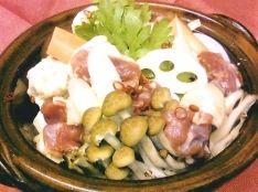 地鶏とつくねのきのこ鍋