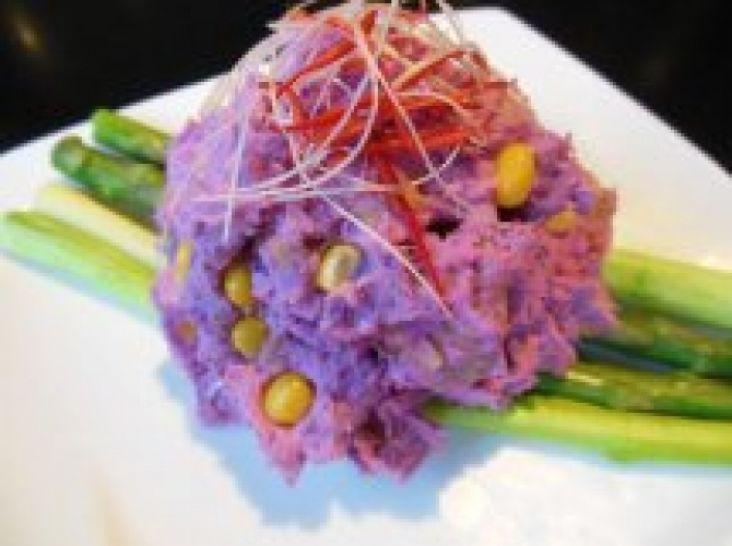 小海老と紫いもの濃密ギリシャヨーグルト風味