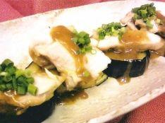 米ナスと鶏の山椒味噌焼き