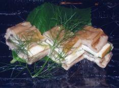 穴子とスモークチーズのミルフィユ