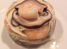 五島手延うどんと野菜のゼリー寄せ〜まるでおなべみたい〜