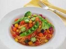 夏野菜たっぷり菜園風パスタ