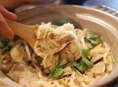 松茸と京揚げの炊き込みご飯