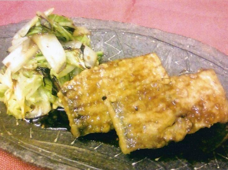 鱈の生姜焼き