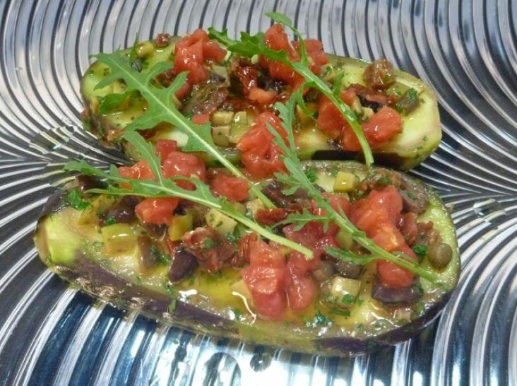 水茄子の前菜サラダ