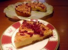 ルバーブとラズベリーのミルクケーキ