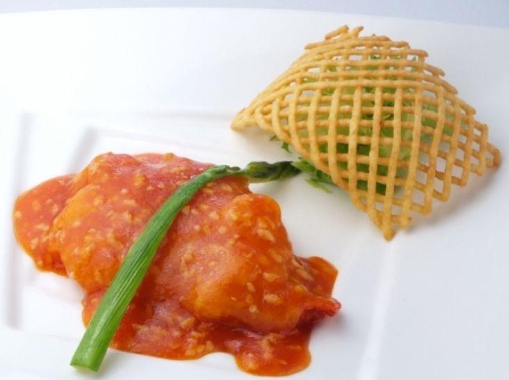 乾焼明蝦排:大海老のソテー チリソースがけ 西洋野菜を添えて