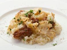 リゾット ハナビラタケと美味豚のサルシッチャ