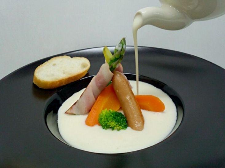 ポタージュで頂く バランスの良い温サラダ
