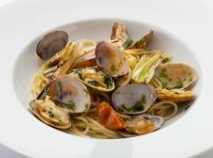 アオサノリと長ねぎのボンゴレスパゲッティ