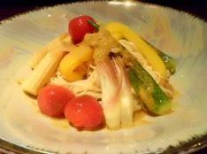 夏野菜のカレー素麺