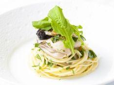 糸島牡蠣とルッコラのスパゲッティ