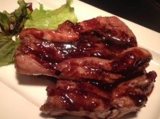 猪バラ肉のオーブン焼き バルサミコジンジャー風味