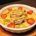 千切りポテトとインゲンとオイルサーディンのチーズ焼き