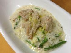 鶏肉と金針菜のパリメザンリゾット